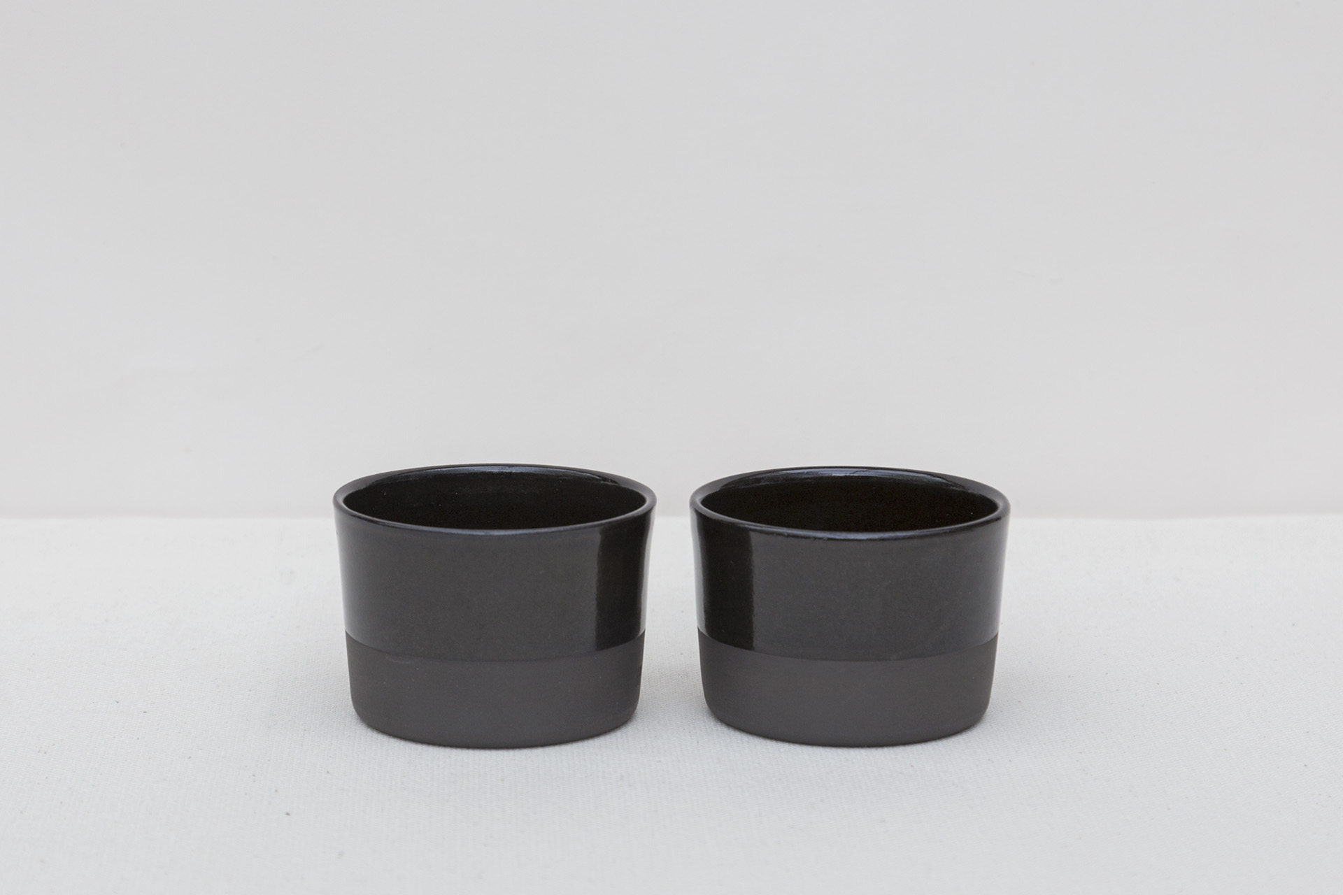 Black Cocoa Wide Espresso Cups 2 | Set of 2