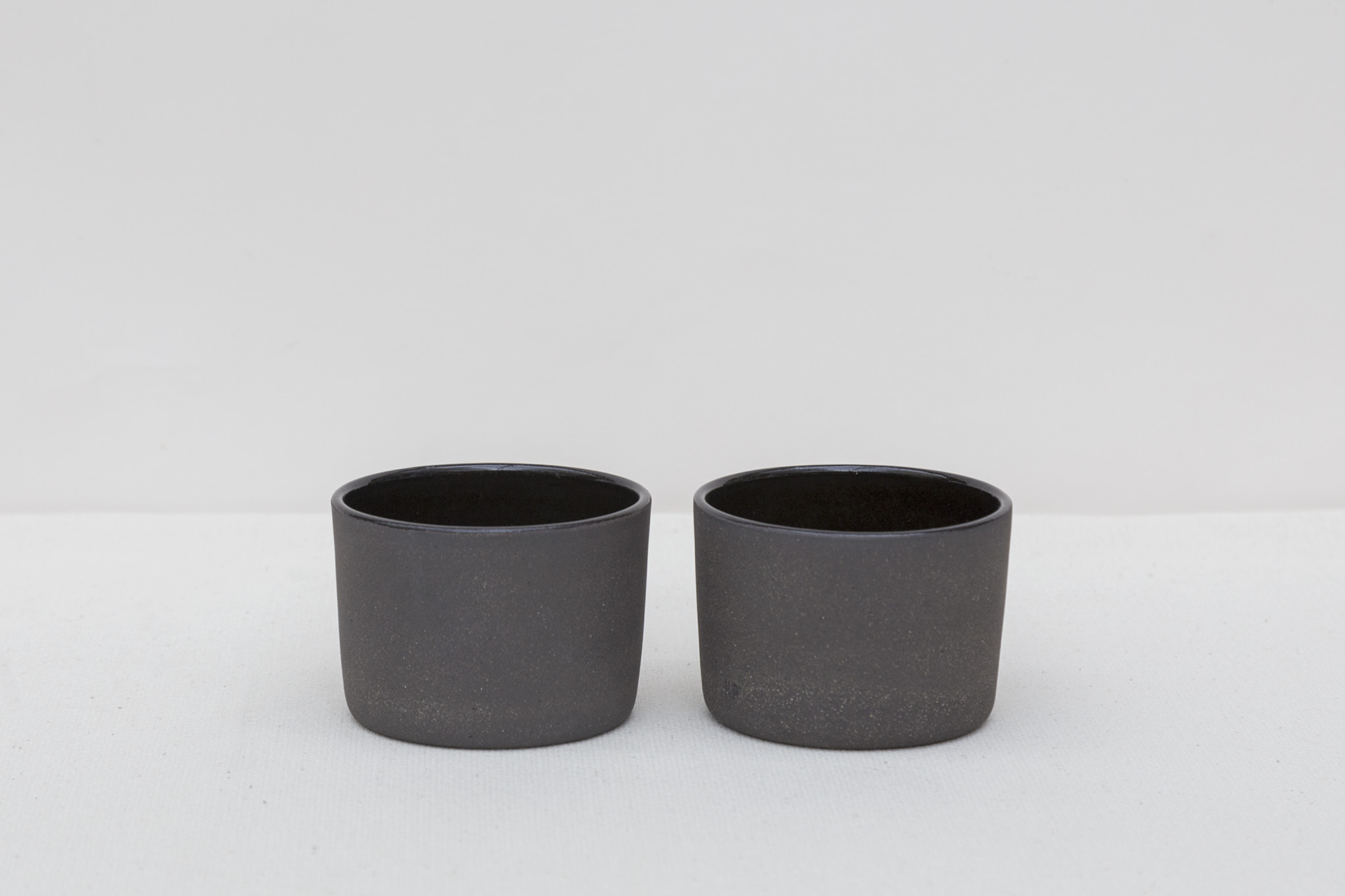 Black Cocoa Wide Espresso Cups 1 | Set of 2